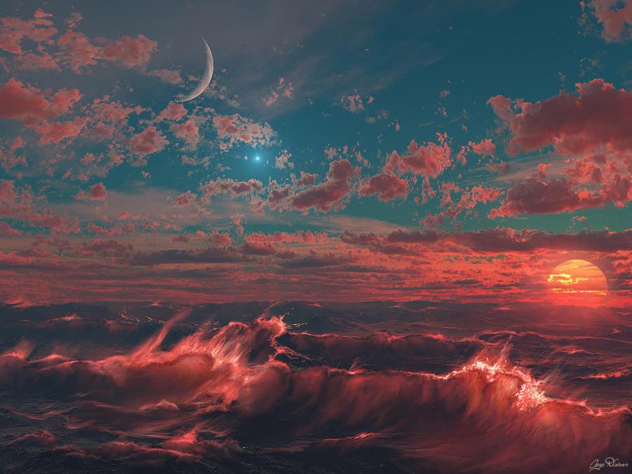 ocean fire by Seanbean80