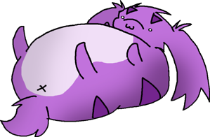 Really fat Purple Poof by AruneProject