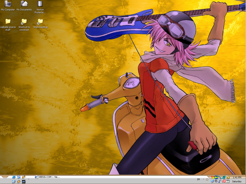 my haruhara haruko desktop by gilliam