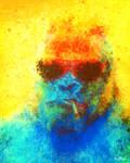 Suspiciously Colorful Gorilla