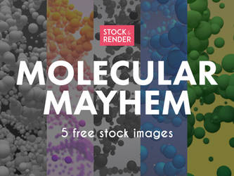 Molecular Mayhem: 5 Free Stock Images by Matt-Mills