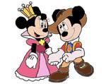 Musketeer Mickey and Princess Minnie