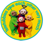 Teletubbies Love Each Other Very Much Logo