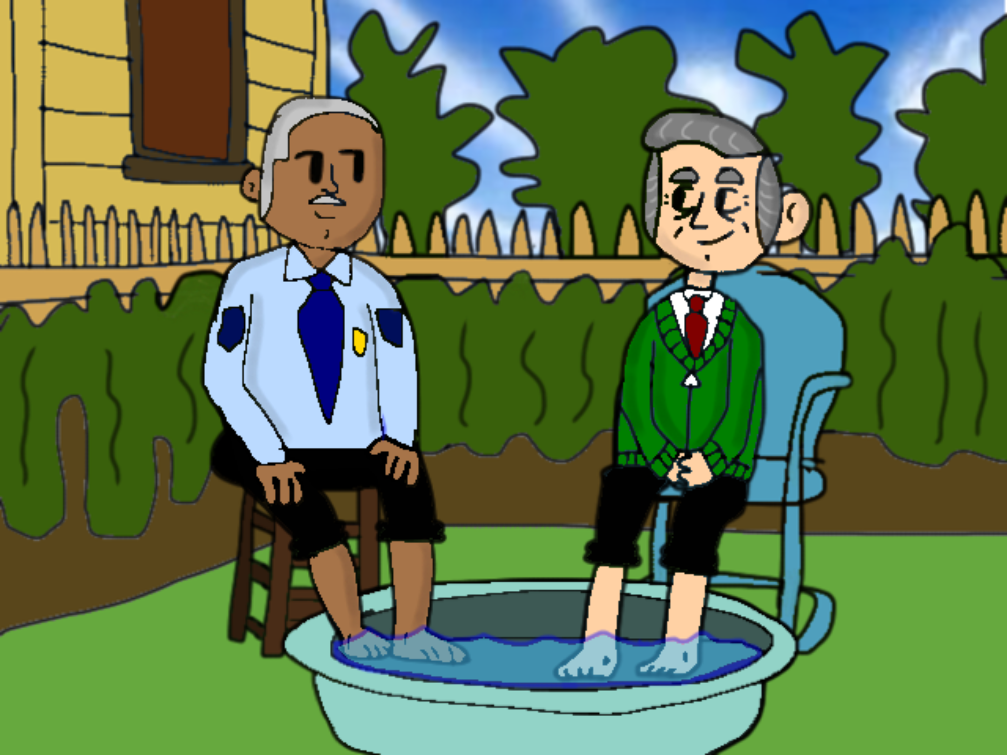 Mister Rogers And Officer Clemmons By Babylambcartoons On Deviantart