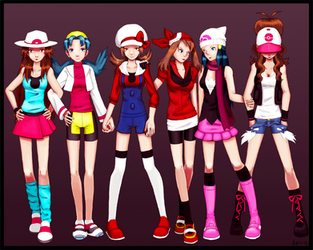Pokemon girls by Hapuriainen