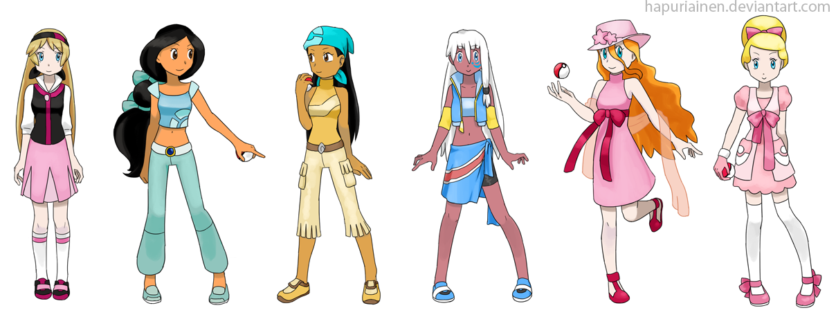 Character Design Dress Up Game : Pokemon princesses by hapuriainen on deviantart