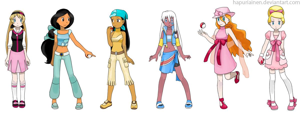 Character Design Dress Up Game : Pokemon princesses by hapuriainen on deviantart