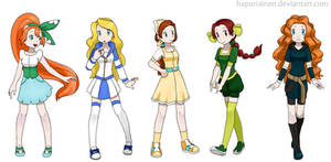 Pokemon Princesses 3 by Hapuriainen