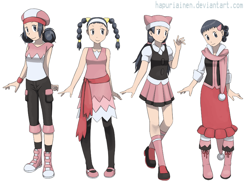 Anime Character Design Competition : Dawn alt outfits by hapuriainen on deviantart