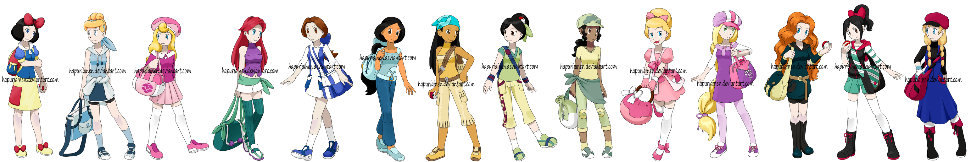 Pokemon Princesses 8 by Hapuriainen