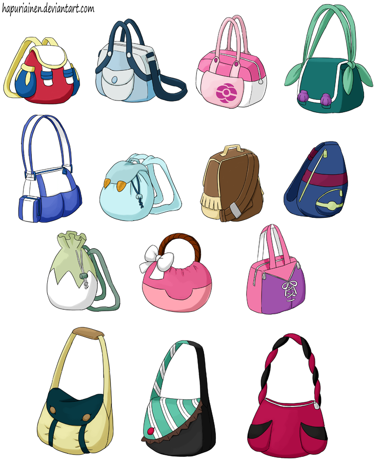 Pokemon Princesses 8 Bags By Hapuriainen On Deviantart