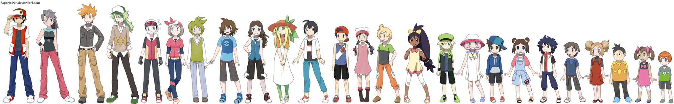 Anime Characters Age : Pokekids hgss ages by hapuriainen on deviantart