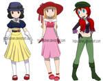 Snow White, Aurora and Ariel