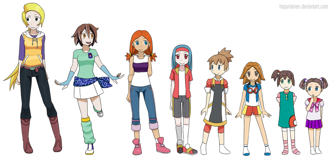 Anime Characters Age : Lesser known pokegirl ages by hapuriainen on deviantart