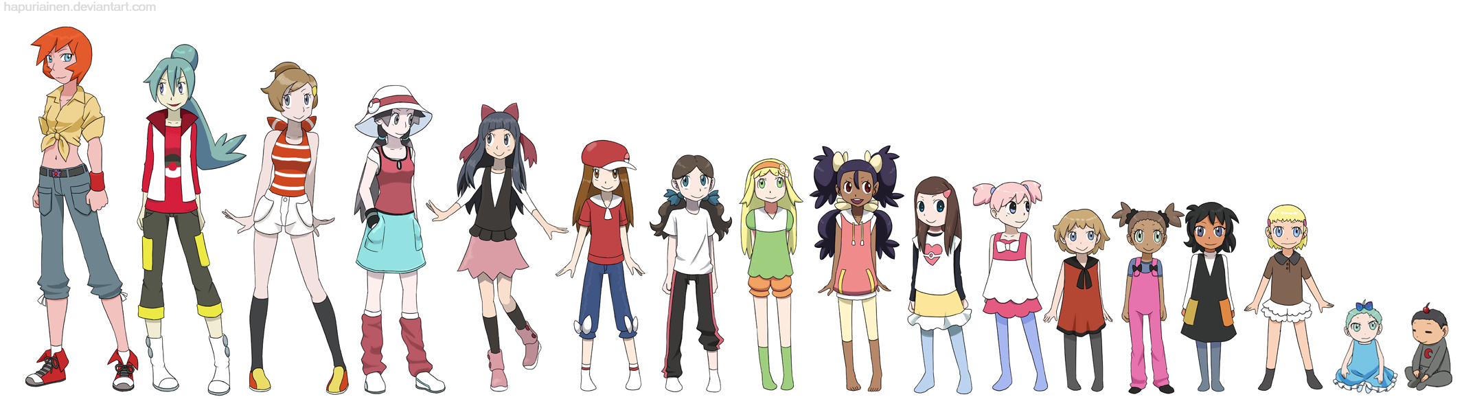 Anime Characters Age : Pokegirl ages by hapuriainen on deviantart