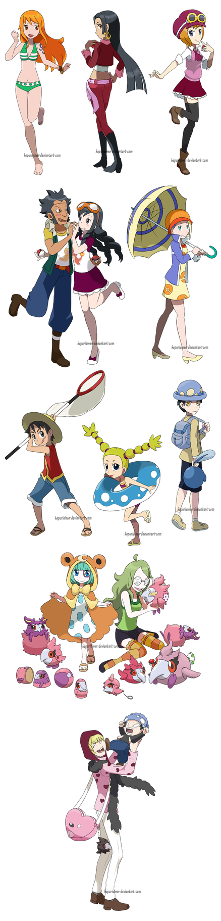 One Piece Poketrainers by Hapuriainen