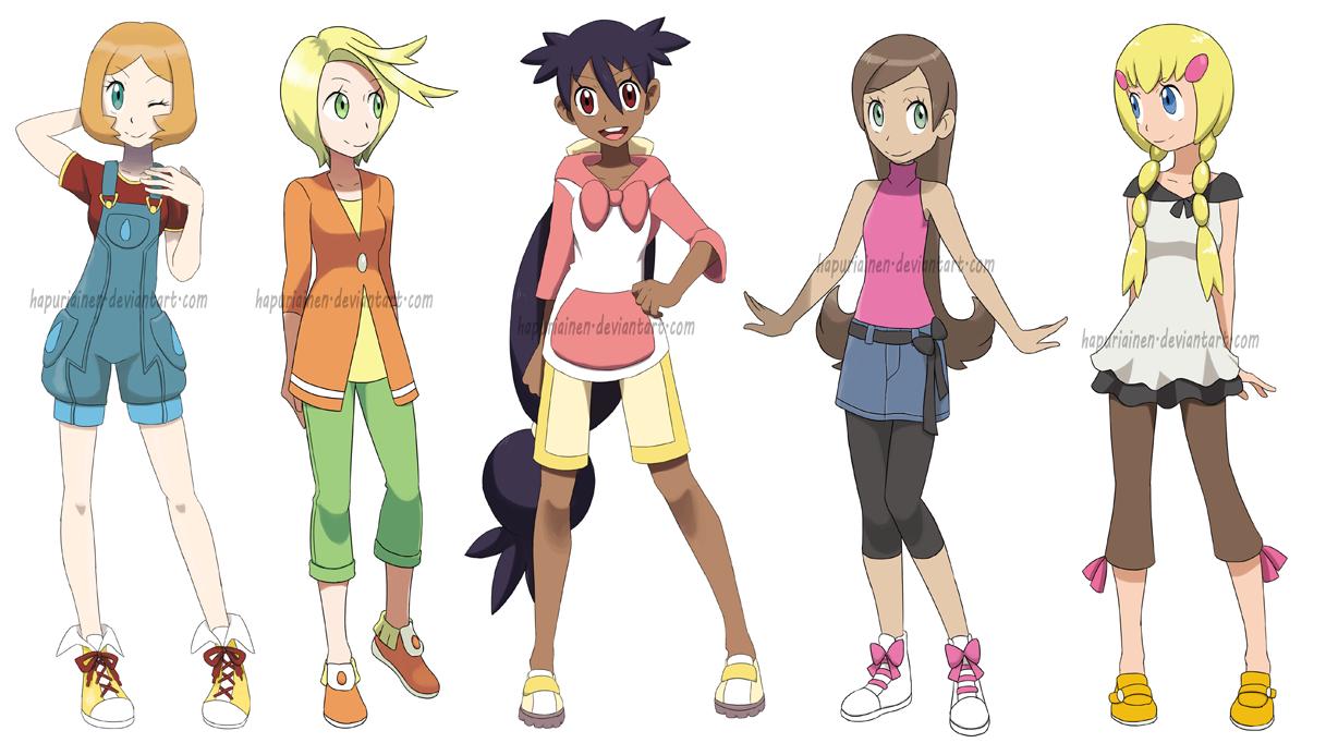 Character Design Dress Up : Pokegirls alt outfits by hapuriainen on deviantart