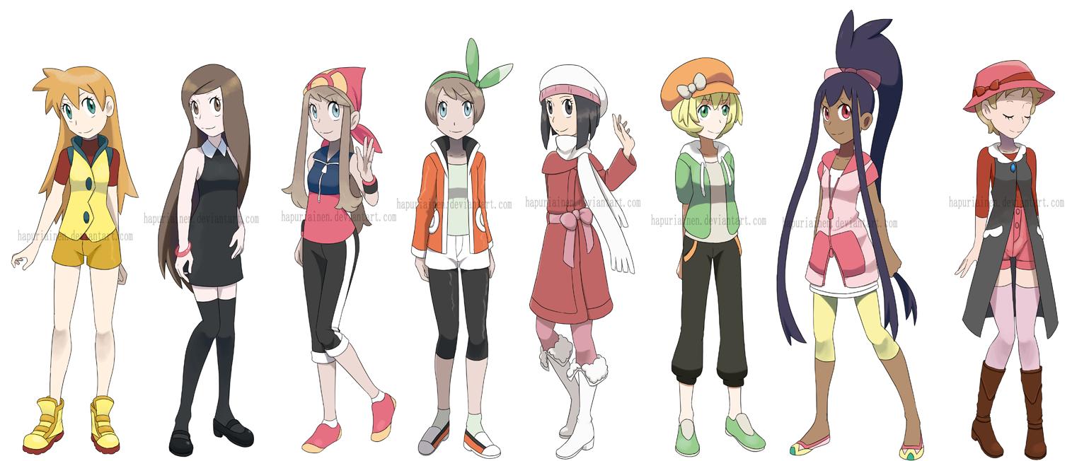 Character Design Dress Up Game : Pokegirls alt outfits by hapuriainen on deviantart