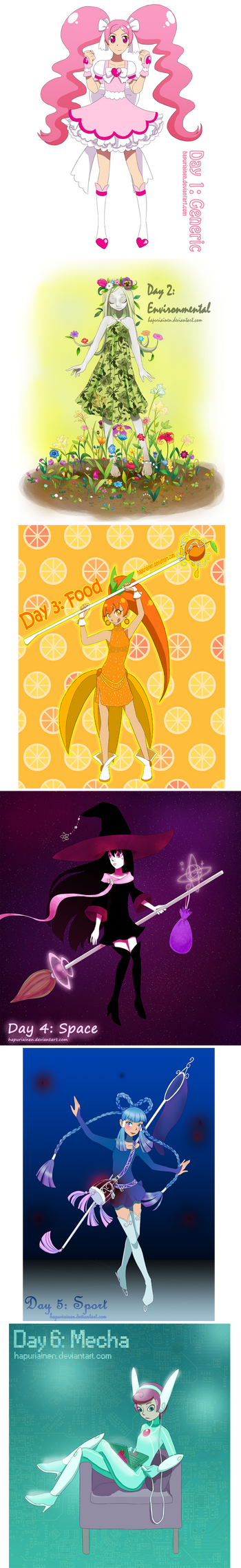 Magical girl challenge 1/3 by Hapuriainen