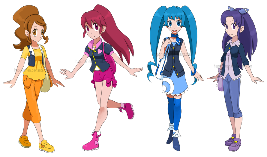Happiness Charge Precure! as Pokemon trainers by ...