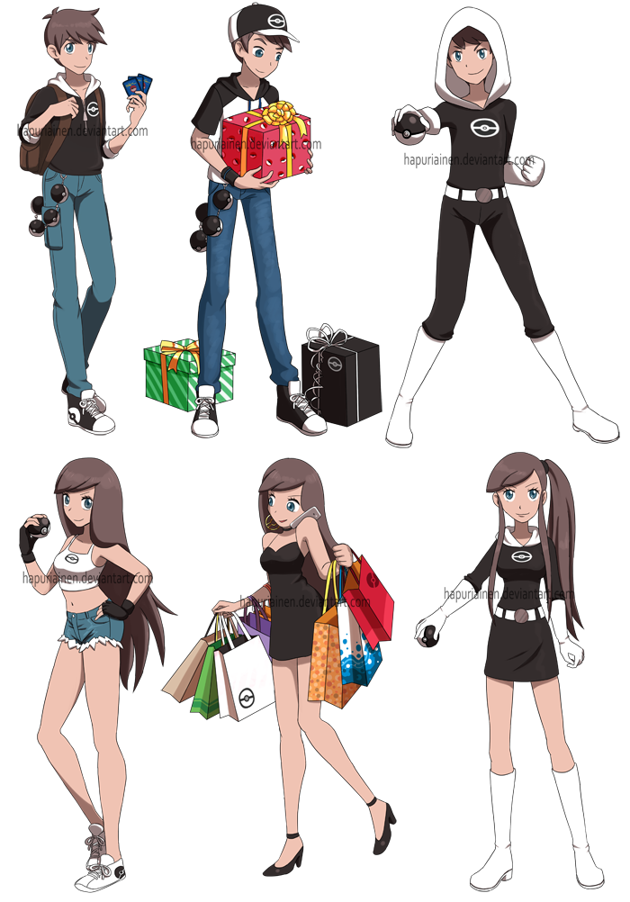 Pokemon And Y Cartoon Characters : Pokemon characters by hapuriainen on deviantart