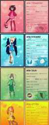 Tokyo Mew Mew next generation profiles by Hapuriainen