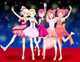 Dazzling Pink Precure red carpet