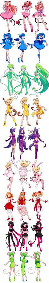Tokyo Mew Mew redesigns