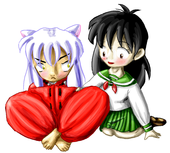 Inuyasha and Kagome again... by Hapuriainen