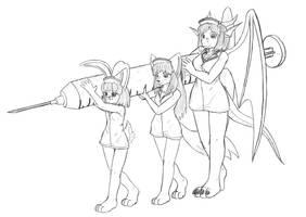 randomly, nurses c.c by AlloyRabbit