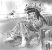 Patchouli in the library by AlloyRabbit