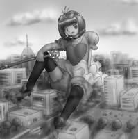 Com - Sakura fell down by AlloyRabbit