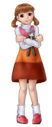 Com - Nanako and plushie by AlloyRabbit