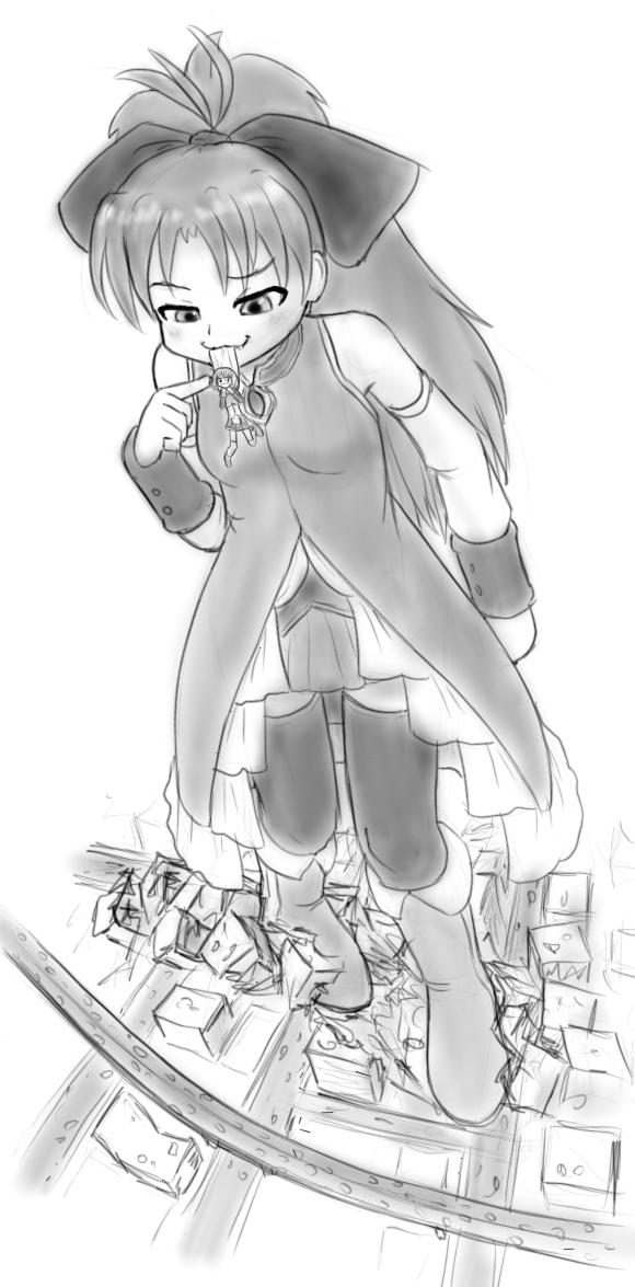 Kyoko goes nomnom by AlloyRabbit