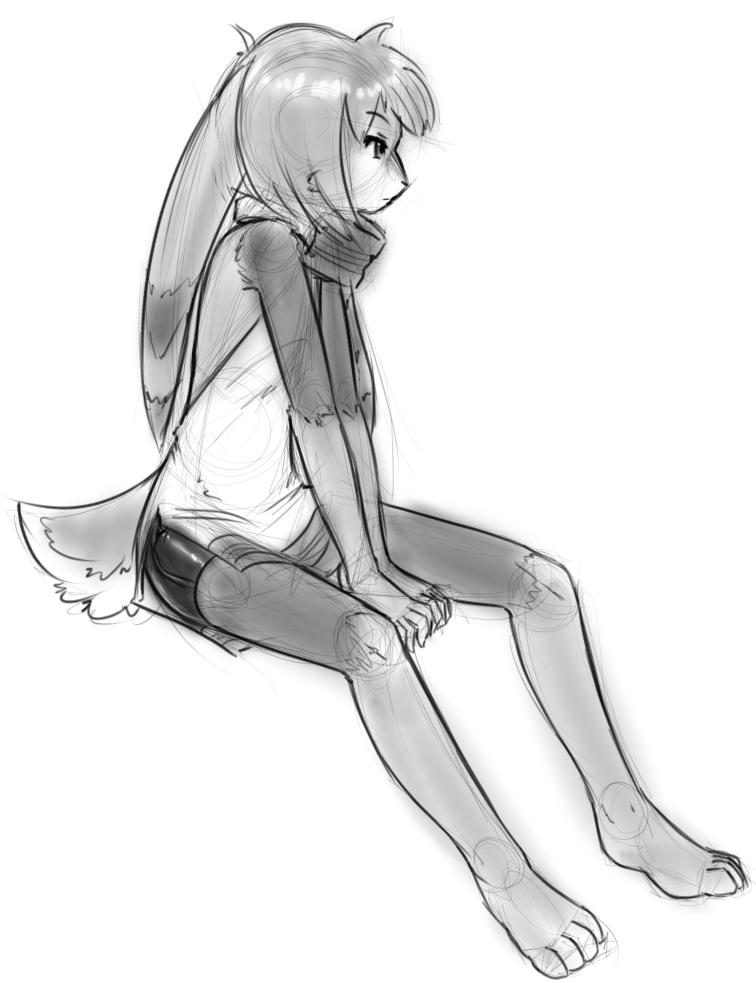 Silver sketch by AlloyRabbit