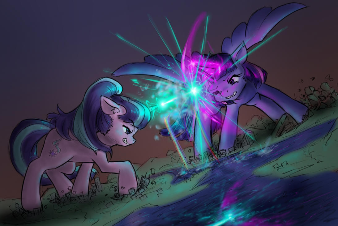 fighting on the map by AlloyRabbit