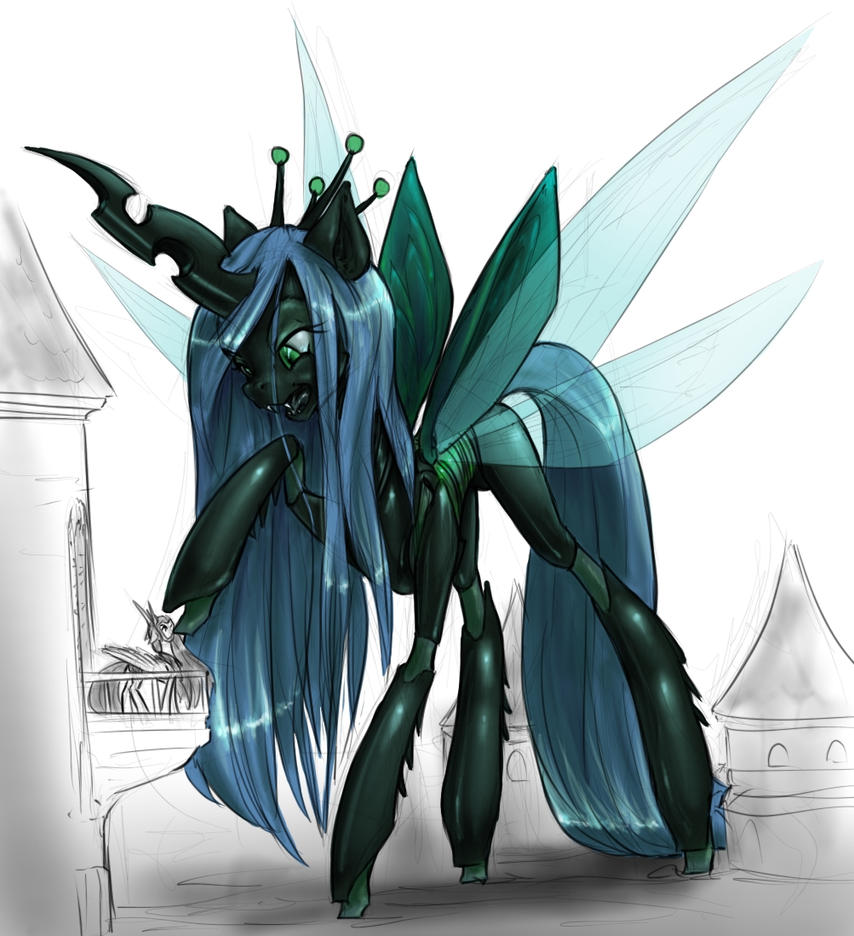 Chrysalis Bugs Celestia By AlloyRabbit On DeviantArt