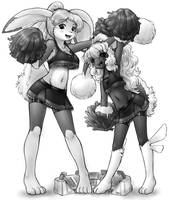 double bun cheer by AlloyRabbit