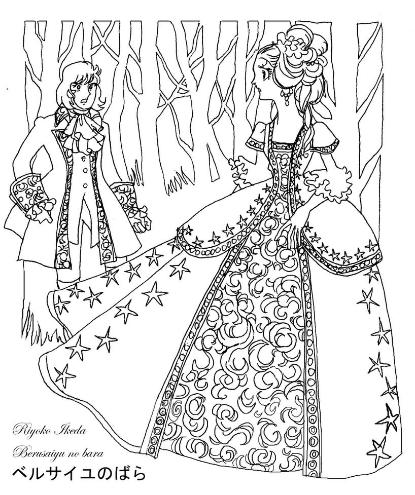 Marie antoinette and fersen coloring sheet by emilie la - Coloriage marie ...
