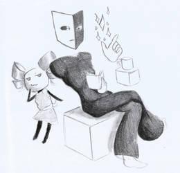 SPM: Dimentio and Mimi Sketch
