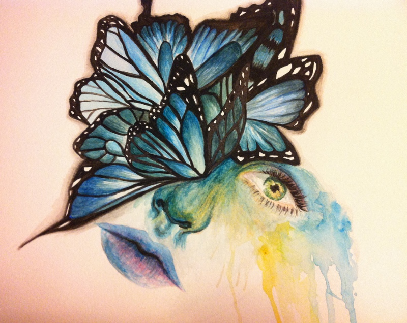 Butterflies are cool by artonboyflesh on deviantart for Cool drawings of butterflies