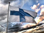 Flag of Finland HDR