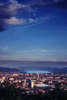 Zurich under the moon by Sahajalal