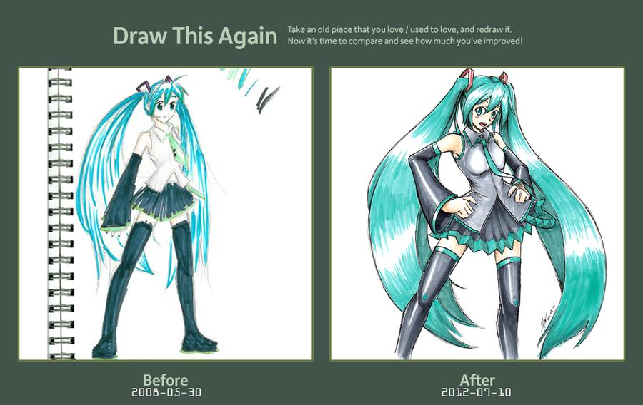 Draw This Again Hatsune Miku Copics By Everwander On