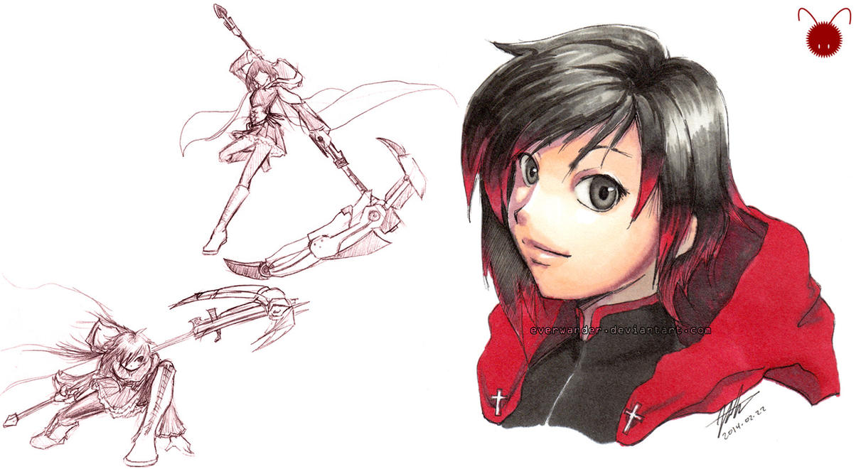 how to draw ruby rose
