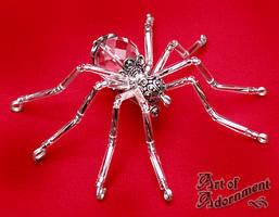 Crystal Spider Brooch by ArtOfAdornment
