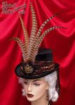Steampunk Velvet Top Hat