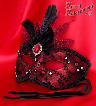 Sanguine Venetian Mask by ArtOfAdornment