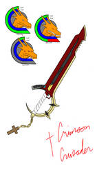 Crimson Crusader (Adrian's Keyblade and portraits) by killerdragon558