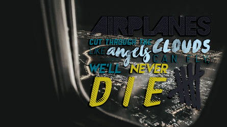 Airplanes - 5SOS Typography Wallpaper